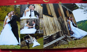 Personalized-photo-arrangement for wedding albums