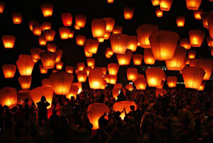 Whishing Sky Lanterns