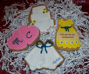 Edible bridesmaids wedding gifts