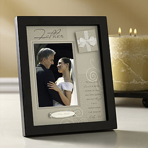 Frameas father wedding gift