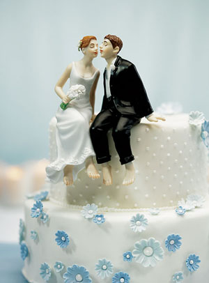 Funny romantic cake topper