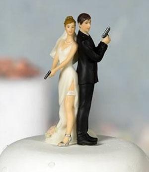 Cheerleading Wedding Cake Toppers