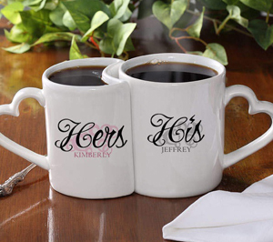 Personalized coffee cups wedding gifts