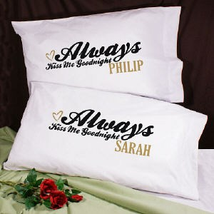 personalized pillowcases wedding gifts