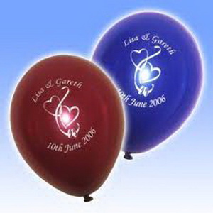 printed names wedding balloons