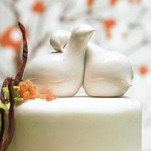 Vintage dove cake topper