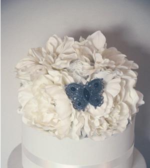 Vintage floral cake topper