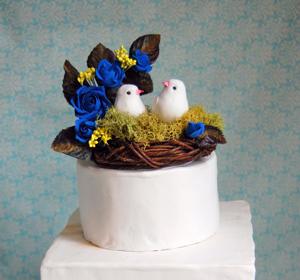Vintage handmade cake topper