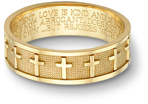 Engraved wedding bands - religious phrases