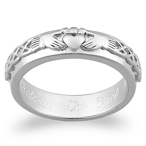 Engraved wedding bands - symbol