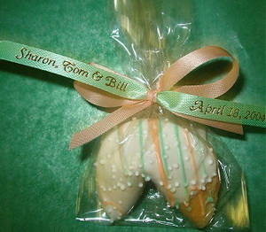 Personalized wedding cookie favors - custom wrapper