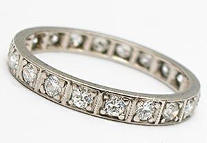 Vintage wedding bands - Ard Deco Style