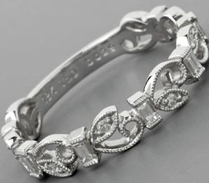 Vintage wedding bands - Art Nouveau Style