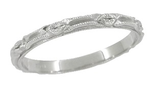 Vintage wedding bands - Edwardian Style