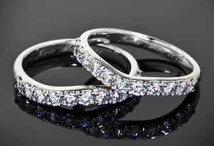 Custom diamond wedding bands