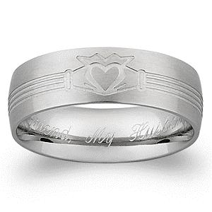 Custom engraved wedding bands