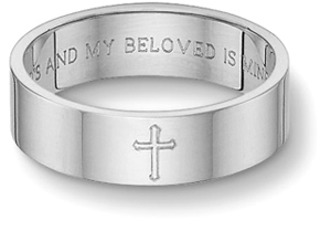 Custom religious wedding bands