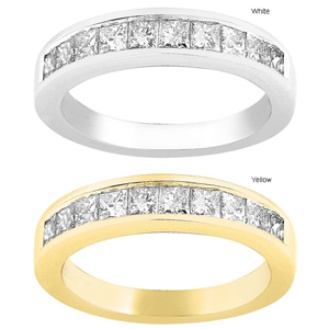 Diamond wedding bands - metal type