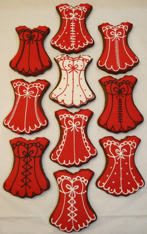 funny wedding cookie favors - lingerie