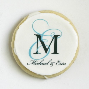 personalized wedding cookie favors - monogrammed