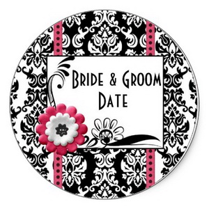 Personalized wedding stickers - design