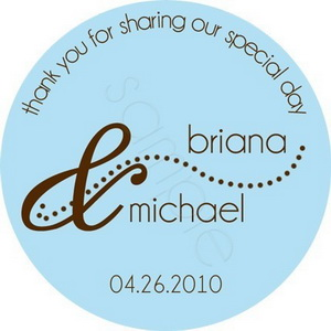Personalized wedding stickers - wording