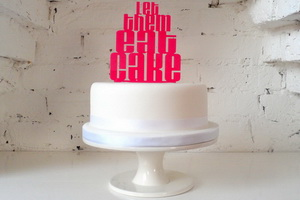 Funny message cake topper