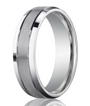 Tungsten men wedding ring