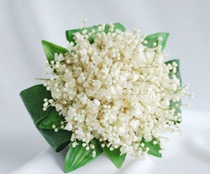 Unique bridal bouquet - lily of the valley