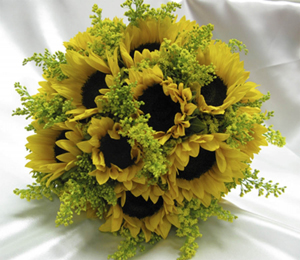 Unique bridal bouquet - sunflower