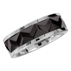 Ceramic men wedding ring
