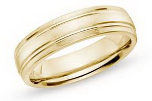 Gold man wedding ring