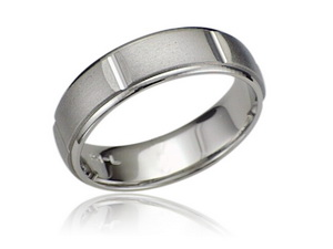Palladium men wedding ring