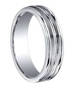 Platinum men wedding ring