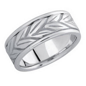 Silver men wedding band