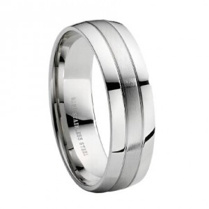 Stainless steel men wedding ring