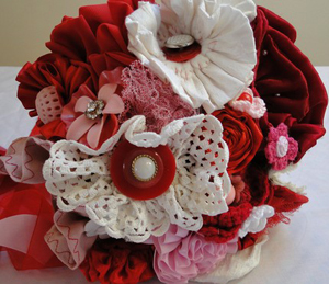 unique-bridal-bouquet-fabric