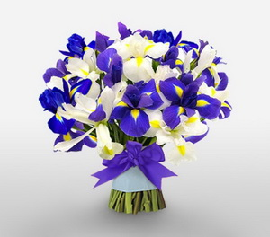 iris as winter wedding flowers