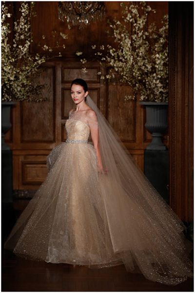 winter wedding dress -Gold