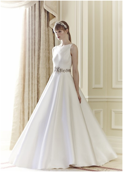 Winter Wedding Dress Minimal Clean Lines