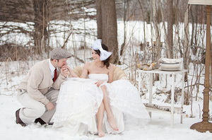 winter wedding photo shooting