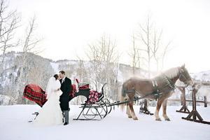 winter wedding sleight ride