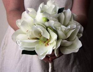 buchet mireasa magnolie