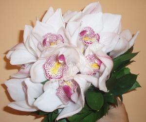 buchet mireasa orhidee