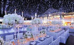 winter wedding lights
