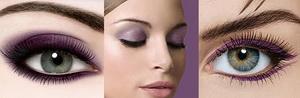 violet bridal makeup