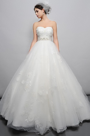pear shape bridal gown