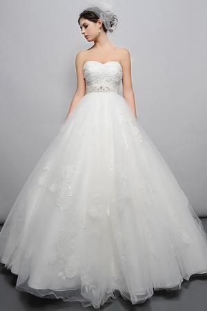 pear shape bridal gown