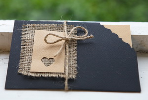 sackcloth wedding invitations