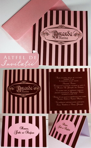 stripe wedding invitations